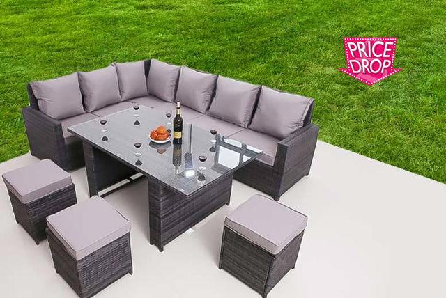 9-Seater Rattan Furniture Set