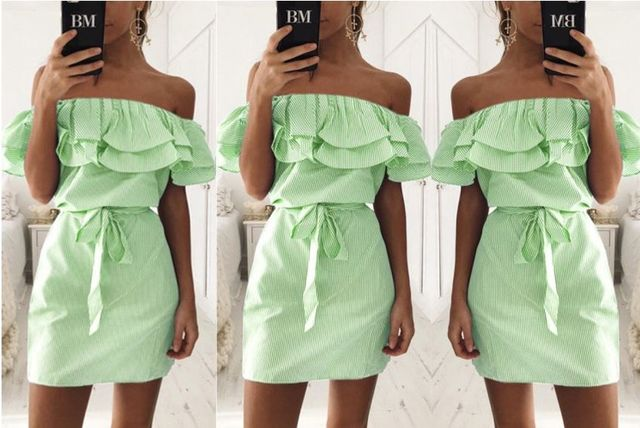 ee50137465 £10 instead of £29.99 for a boho strapless mini bardot dress - choose from  four colours from Anarchy - save 67%