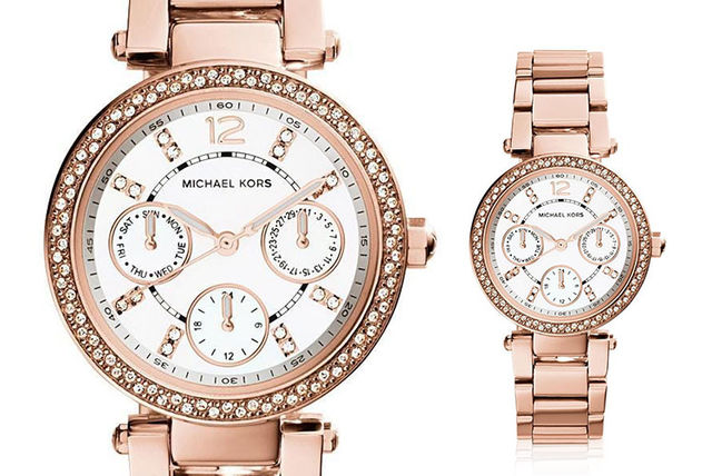 cf16a6317f4a €129 instead of €300.33(from Ticara Watches) for a Michael Kors MK5616 mini  Parker ladies watch - save 57%