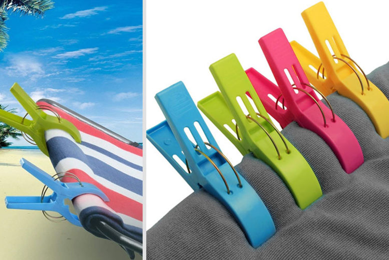 Image of £5.99 instead of £24.99 (from Bellap) for a pack of eight large beach towel pegs - save 72%