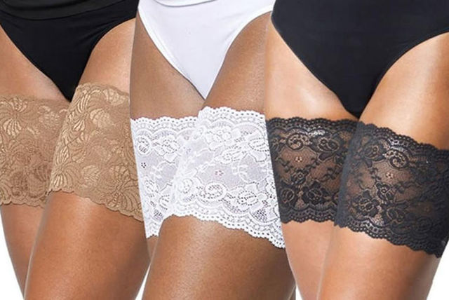 3a170a7ec8938 €5.99 instead of €22.74 (from Bellap) for a pair of lace anti-chafing thigh  bands - choose from three colours and three sizes and save 74%