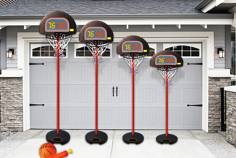 £29 instead of £71.99 (from Eurotrade) for a height-adjustable kids' basketball set - shoot some hoops and save 60%