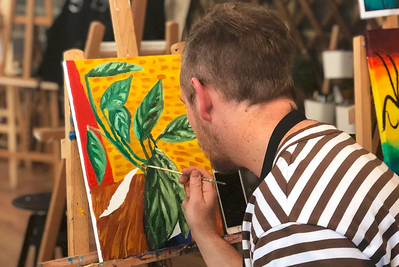 £29 instead of £55 for an acrylic painting experience on a large canvas for one, £49 for two at Liberté Concept, Bethnal Green – save up to 47%