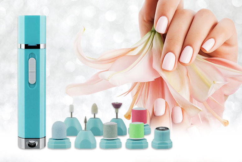 Image of £10.99 instead of £45.99 (from Magic Trend) for a 9-in-1 manicure and pedicure electric nail drill machine set - save 76%