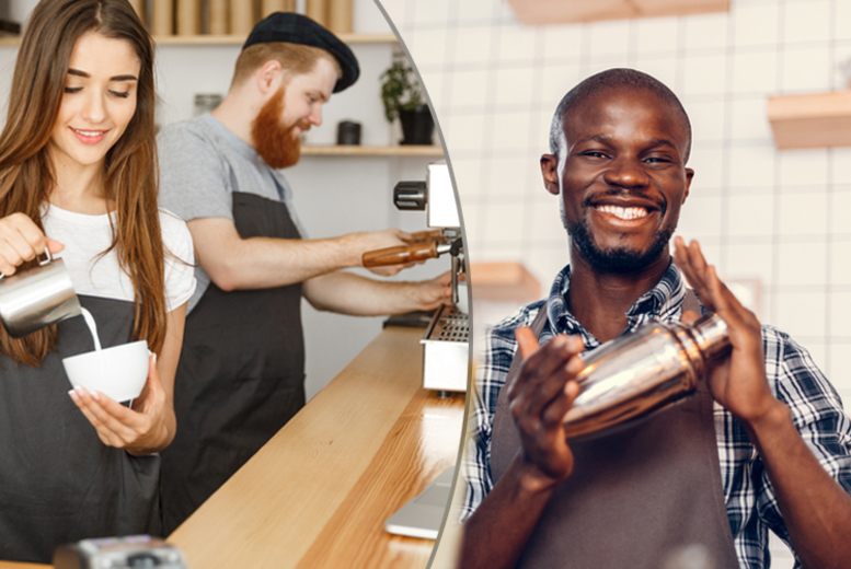 Image of £10 instead of £119 for an accredited bartender & barista training course - cpd certified from International Open Academy - save 92%
