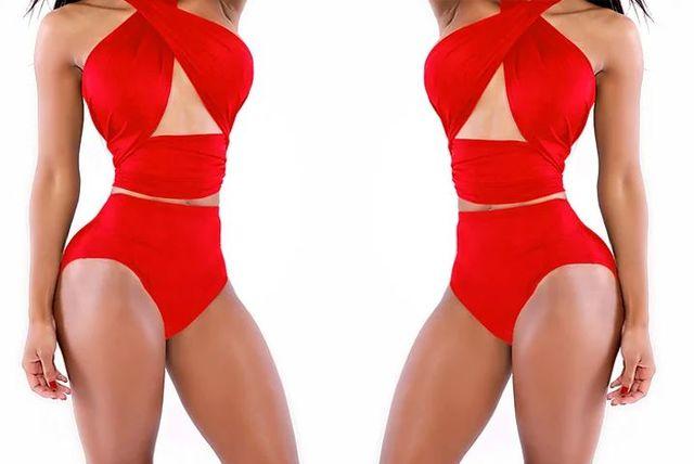 d7fbf7244a3 High-Waisted Wraparound Bikini | Swim-wear deals in Shopping | LivingSocial