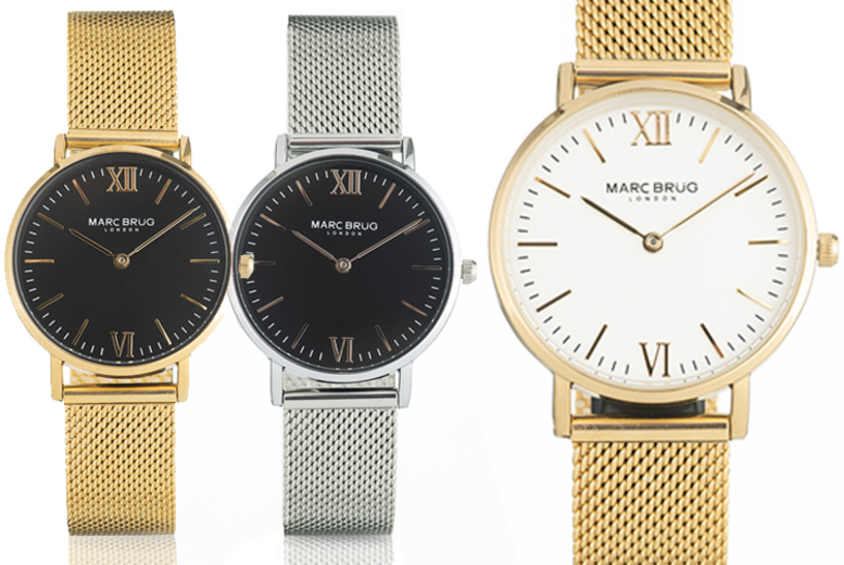 £29 instead of £99 for a Marc Brug round face ladies watch from Blue House Limited - save up to 71%