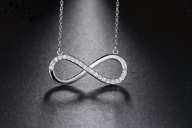 Image of £10.99 instead of £69 for a crystal adjustable infinity necklace from Genova International Ltd - save 84%