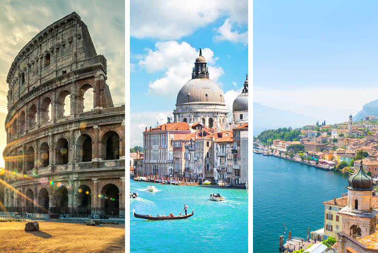 From £199pp (from Weekender Breaks) for a six-night Rome, Venice and Lake Garda break breakfast, trains and return flights, or from £299pp for a nine-night trip - save up to 23%
