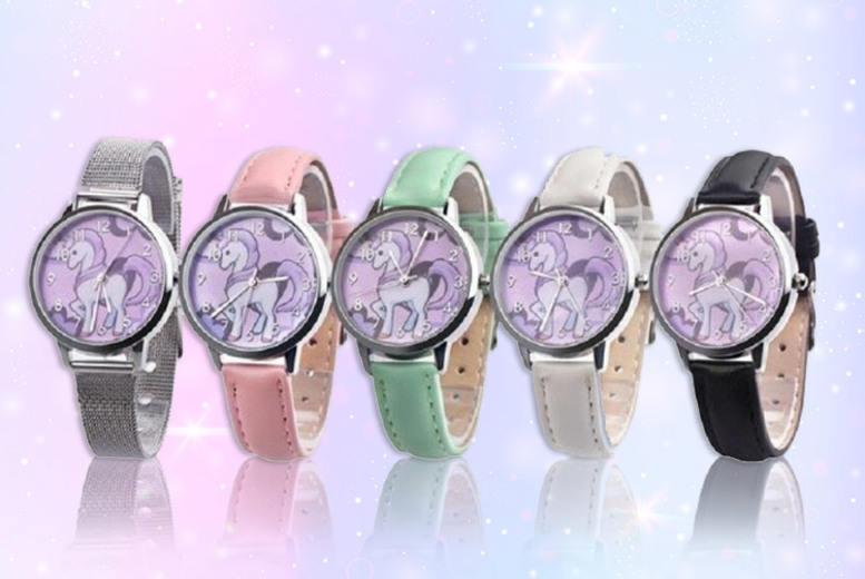 £4 instead of £19 (from hey4beauty) for a unicorn themed wrist watch - save 79%