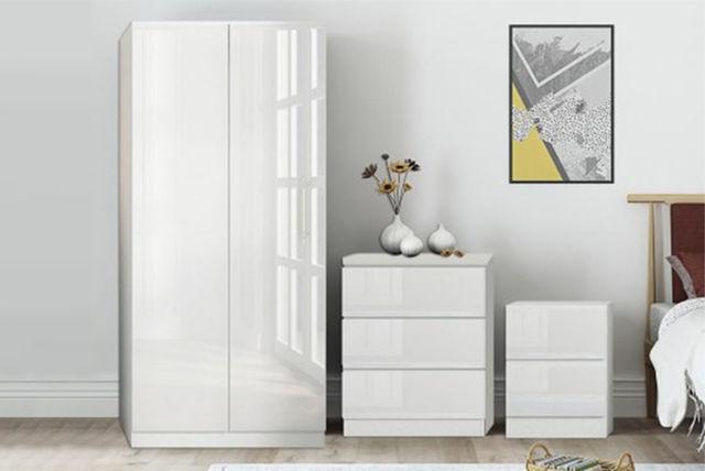 3pc High Gloss Furniture Set | Beds & Mattresses deals in Shopping ...