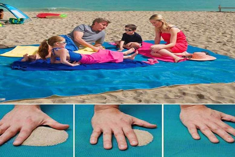 Magic Sandbeach Mat Summer Swimming Sand Free Mat 200*200cm 150*200cm Large Size Sandless Beach Blanket Drop Shipping Welcome 11 High Resilience Camping & Hiking