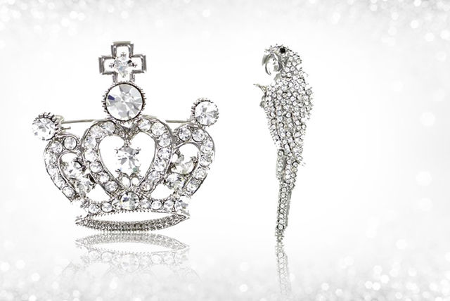 a16f05db1 £8.99 instead of £19.95 (from Lizzie Lee Accessories) for a diamante brooch  –save 55%