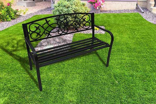 Black Metal Garden Bench | Garden Furniture Deals In ...