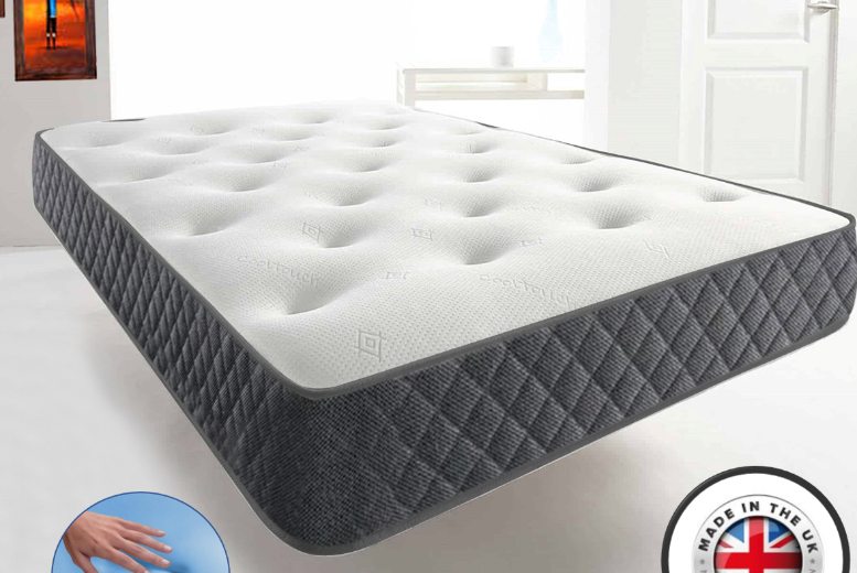 Comfydots Cool-Blue Memory Foam Mattress – 4 Sizes (£59)