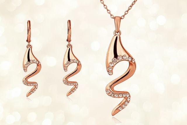 Rose Gold Jewellery Set Shopping Livingsocial