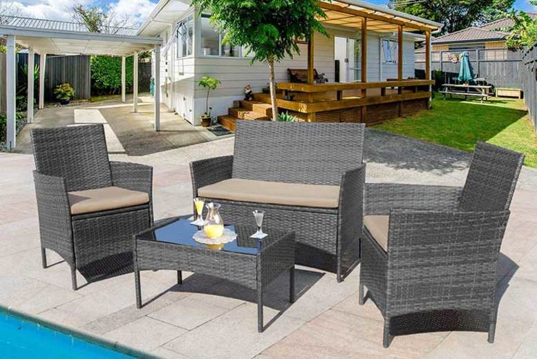 4-Seater Rattan Garden Furniture Set – 3 Options! (£89)