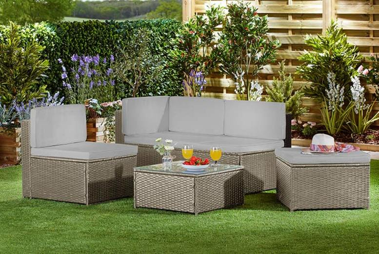 Garden Life 4-Seater Rattan Sofa Set with Optional Cover – 3 Options! (£269)