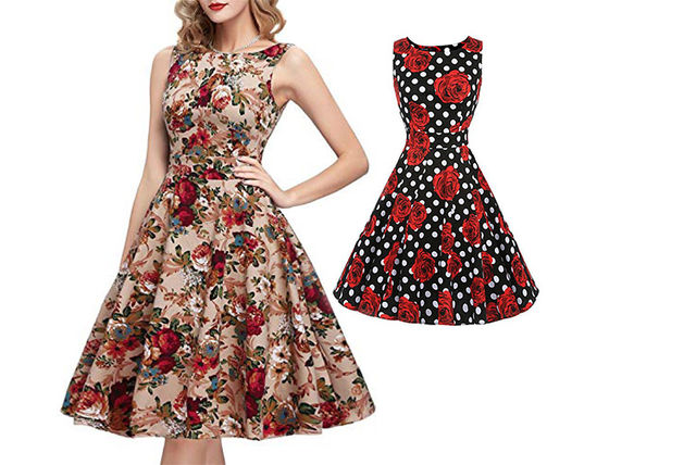 1df70ccd55458 50s Floral Skater Dress | Fashion deals in Shopping | LivingSocial