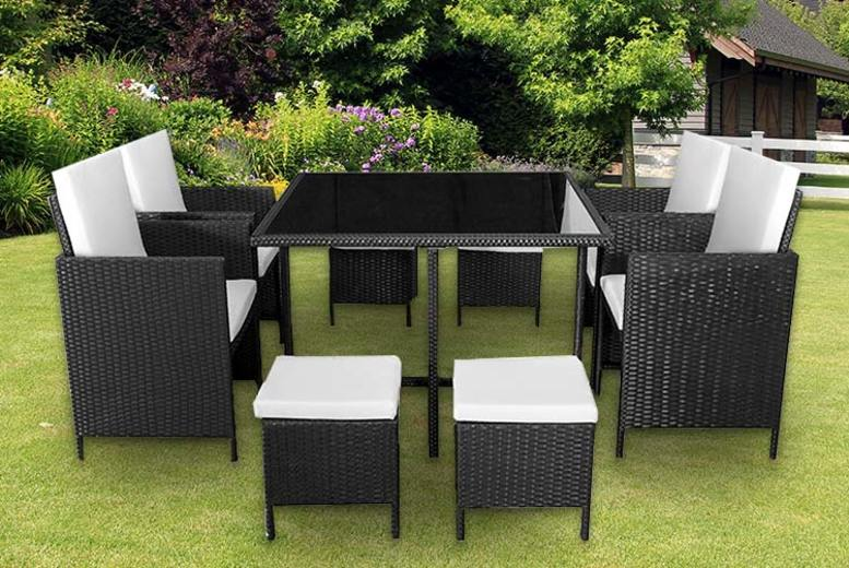 9pc Cube Rattan Furniture Set – 2 Colours! (£249.99)