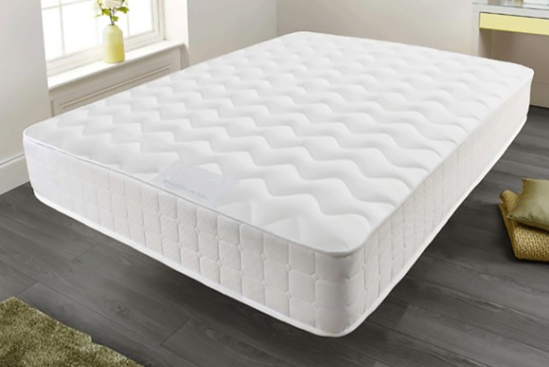 7 or 10″ Memory Foam Quilted Sprung Mattress – 5 Options! (£29)