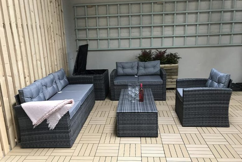 5pc Polyrattan Sofa Set – 2 Colours! (£529)