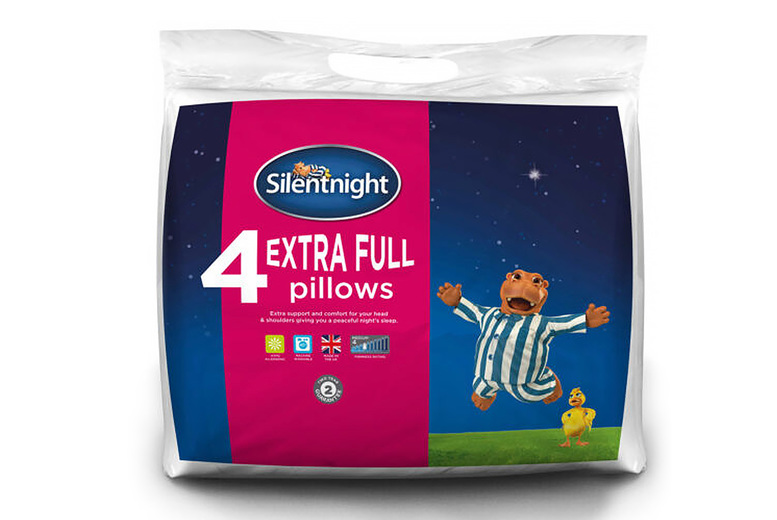 Image of £12.99 instead of £30 (from Chums) for four extra full Silentnight pillows - save 57%