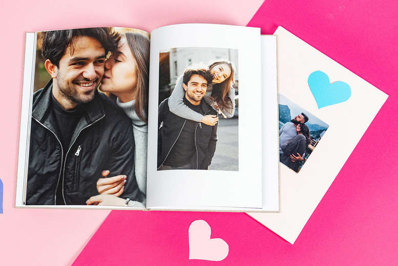 Image of £9.49 instead of £34.95 (from Colorland) for a 32 page A4 personalised exclusive photo book, £13.49 for 48 pages, or £16.49 for 72 pages! - save 74%