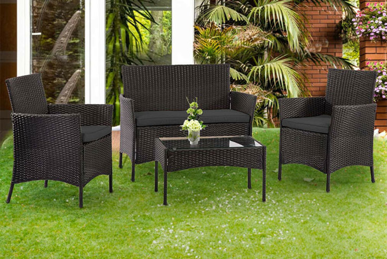 Outdoor 4-Seat Rattan Furniture Set (£99)