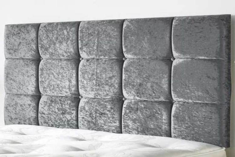 Cube Crushed Velvet Headboard – 6 Sizes & 8 Colours! (£25)