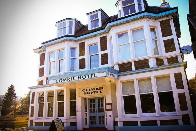 £89 (at The Comrie Hotel, Perthshire) for an overnight stay for two people with breakfast, a two-course dinner, bottle of wine to share and late checkout, £139 for two nights or £179 for three nights – escape for Christmas and save up to 53%