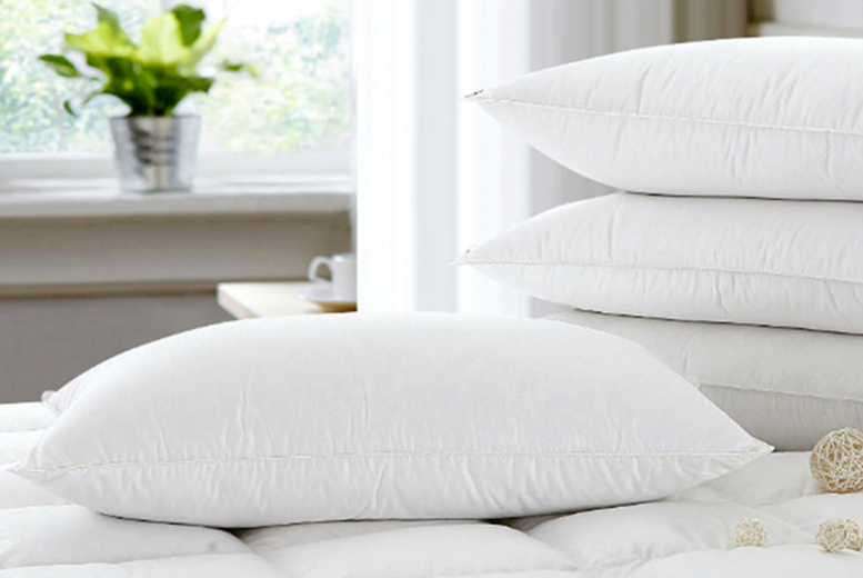 4 Extra Fill Goose Feather and Down Pillows (£17.99)