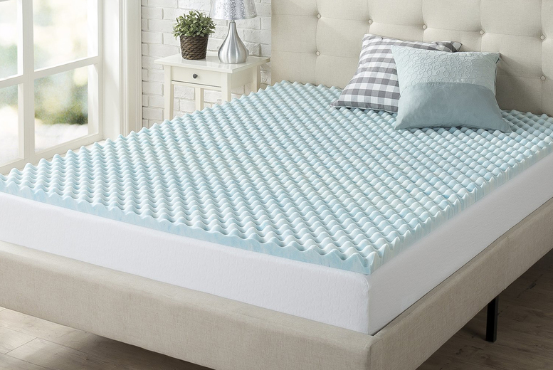 Egg Crate Ventilated Memory Foam Mattress Topper – 5 Options! (£35)