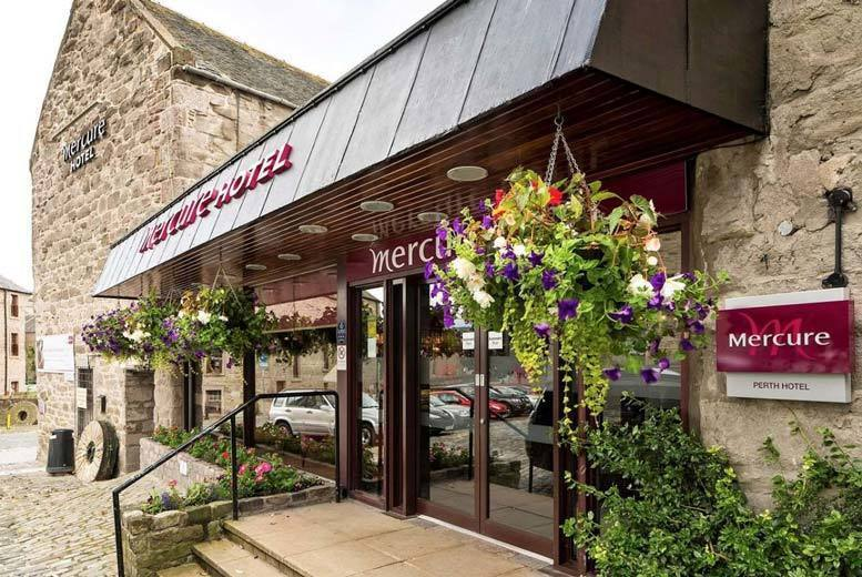 £65 (at Mercure Perth Hotel) for an overnight Perth stay with breakfast, bottle of wine and 12pm late check out, £85 to include dinner, or £125 for a two-night stay with dinner on the first night – save up to 46%