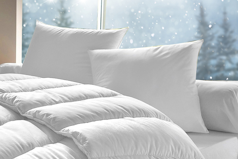 15 Tog Winter Warmer Duvet & with Pillows – 4 sizes! (£15)