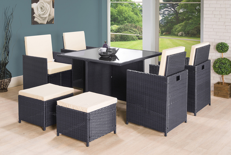 9pc Napoli Rattan Cube Set – 2 Options! (£269)