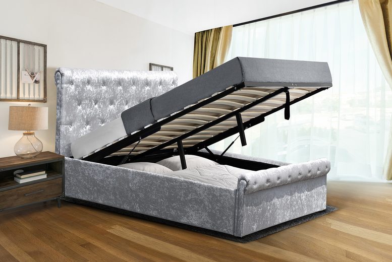 Marseille Ottoman Storage Bed with Optional Mattress – 2 Options! (£164.99)