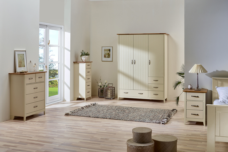 £299 (from Steens Group) for a three-piece Norfolk pine furniture set