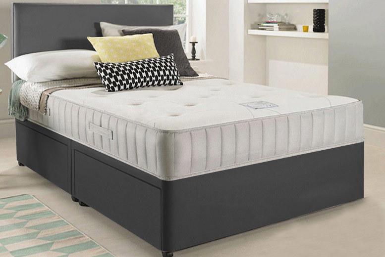 Divan Bed with Headboard – Mattress & Storage Options! (£87)