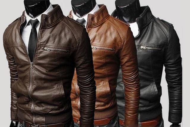 Men's Faux Leather Jacket - 3 Colours!
