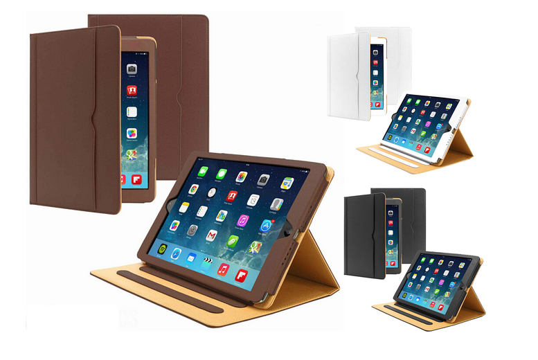 Image of £6.99 instead of £39.99 (from Eshaan) for a smart flip magnetic leather iPad case - choose your size and colour Save - 82%