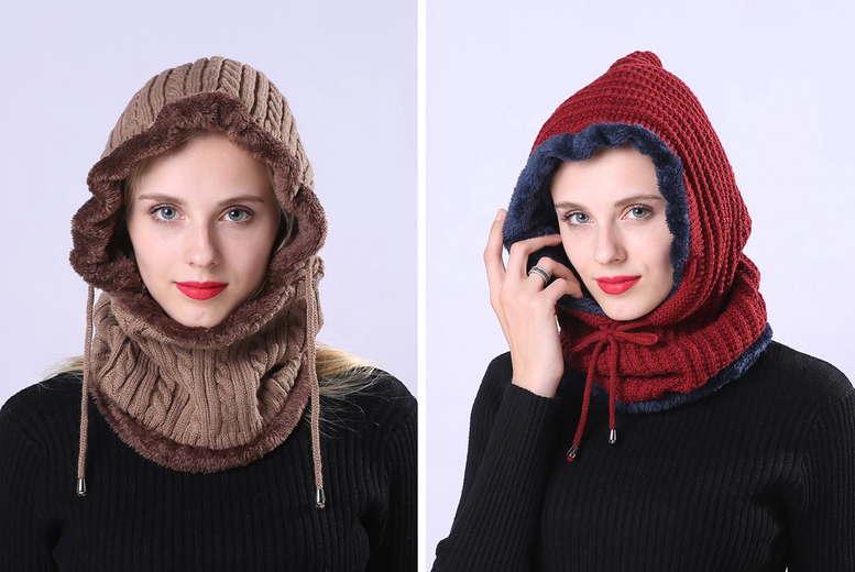 £7.99 instead of £19.99 (from Wish Whoosh Offers) for a winter knitted beanie scarf - choose your colour and save 60%