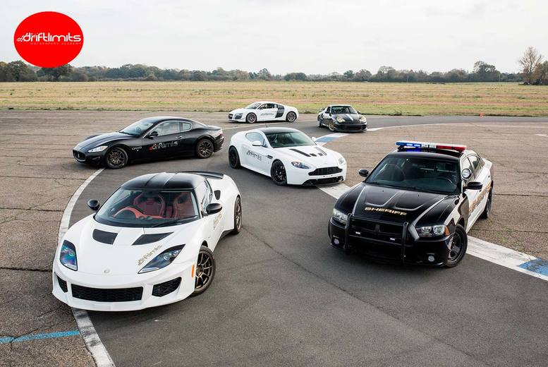 Image of From £39 for a four-lap 'Blast' supercar driving experience, or from £49 for an eight-lap 'Thrill' experience at Drift Limits, Hemel Hempstead - choose one to five cars and save up to 50%