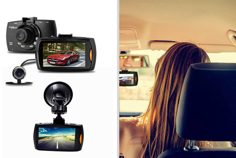Image of £19.99 instead of £89.90 (from Maxwe) for an HD front and rear dashcam, or £29.99 for a dash cam with a 16GB SD card - save up to 78%