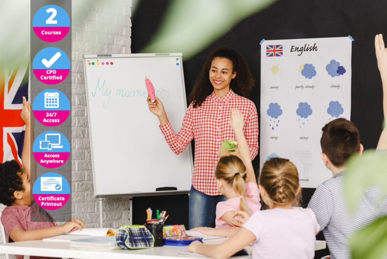 Image of £39 instead of £218 (from International Open Academy) for an expert English teacher bundle - save 82%