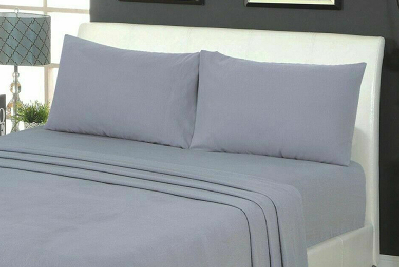 100% Brushed Cotton Flannelette Fitted Sheet & Pillow Cases (£13)