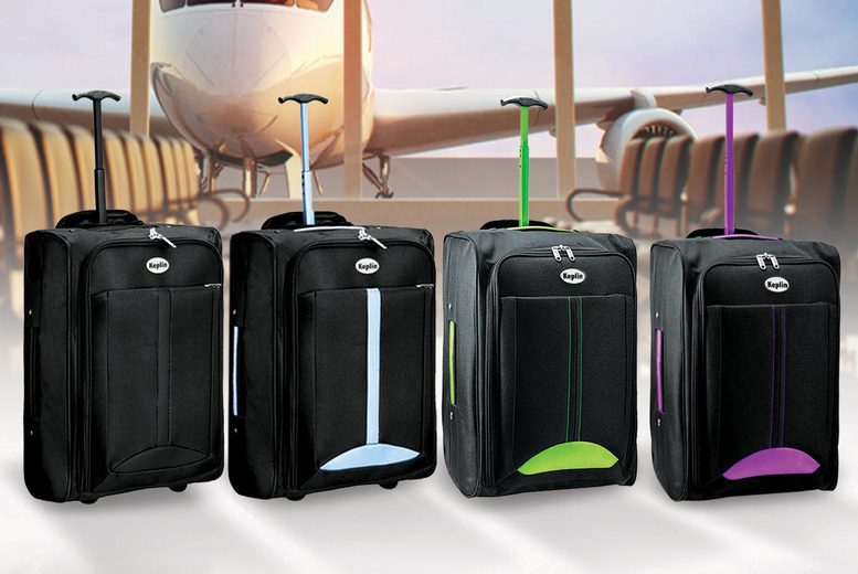 ?9.99 instead of ?29.99 (from Blackfeather) for cabin-approved wheelie hand luggage - choose from four colours and save 66%