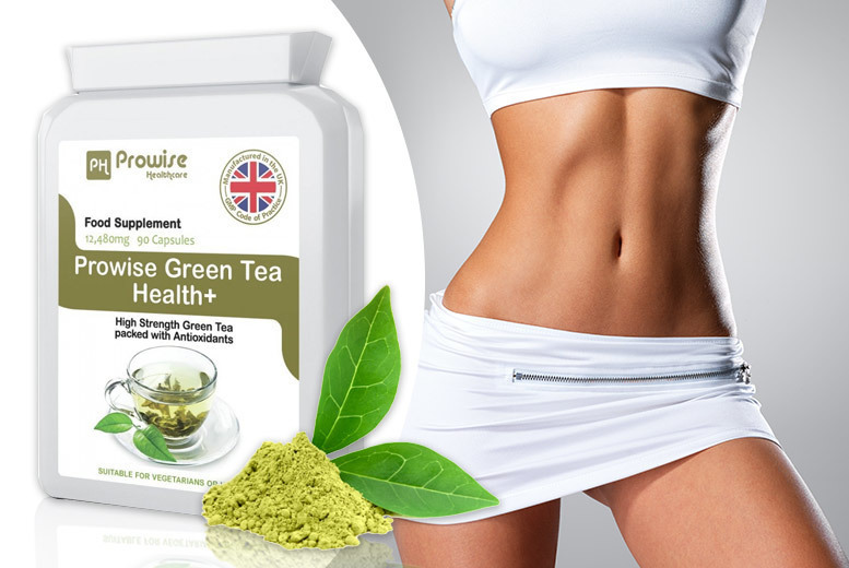 ?7.99 instead of ?39.99 for a prowise green tea health+ capsules from PROWISE HEALTHCARE LTD - save 80%