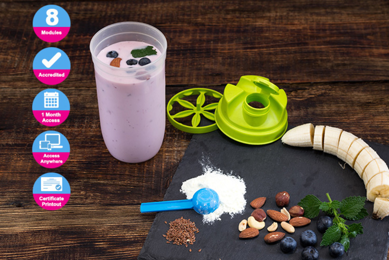 Image of £4.99 instead of £395 for an accredited sports and exercise nutrition course from Live Online Academy - save 99%