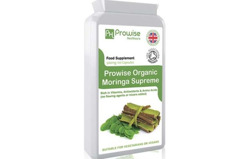 Image of £11 instead of £34.99 for a 2-mth Supply of Moringa Supreme Capsules from PROWISE HEALTHCARE LTD - save 69%